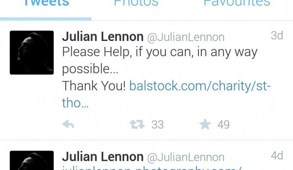 Jullian Lennon tweets about Balstock 2015 !!!!
